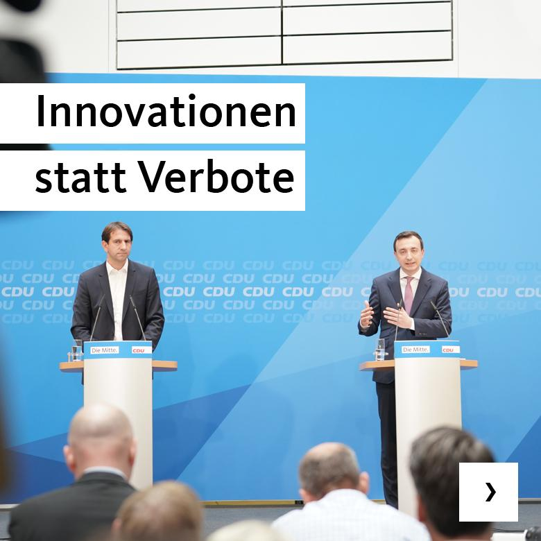 Innovationen statt Verbote